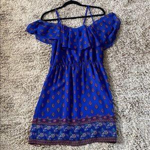 Jessica Simpson Blue Cold Shoulder Dress